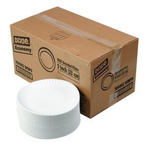 White Paper Plates - 9 - 1000 ct