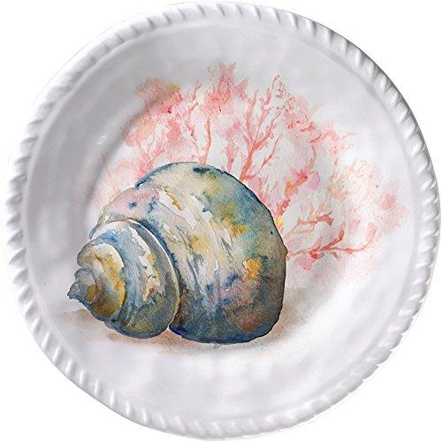 Merritt - Melamine Round Salad Plate - Coral Shell Conch - 8