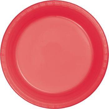 Premium 10-inch Plastic Plates Coral