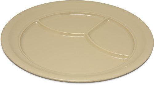 Carlisle 4351425 Dallas Ware Melamine 3-Compartment Plate 9-34 Dia x 1516 H Tan Case of 36