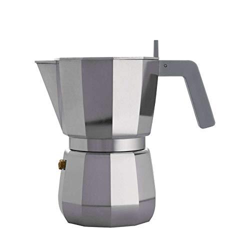 Alessi DC066 Moka Espresso coffee maker 6 cups grey