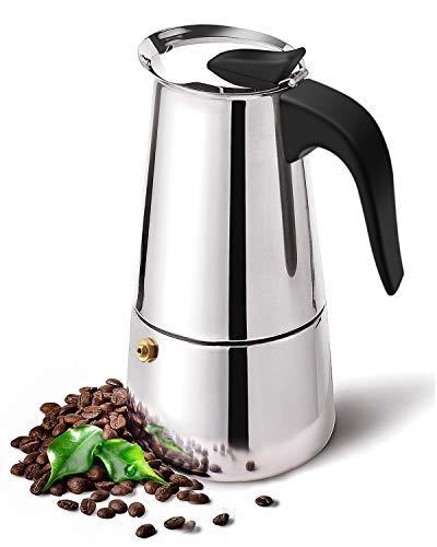 DclobDop Stovetop Espresso Maker with Classic and Rich Brews Moka Pot 6 CupCuban Coffee Maker Stove top Espresso Shot Maker for Espresso italian coffee maker
