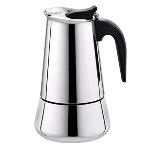 Espresso Maker Stainless Steel Wide Bottom Home Durable Coffee Pot Moka Espresso Maker Percolator Stove Italian Espresso Coffee 2-9 Cup 100ml