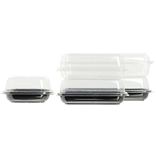 GRABAPAC Clear Plastic Tray - 6L x 6W x 1H