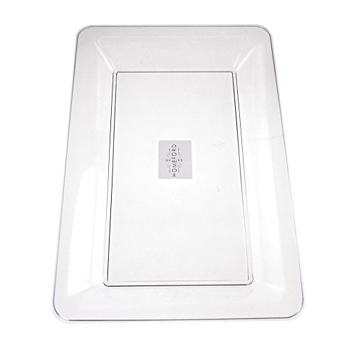 Homeford Clear Plastic Rectangle Serving Tray 14-12-Inch