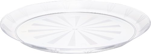 Party Essentials N12 Plastic Round Tray 12 Diameter Clear Case of 12
