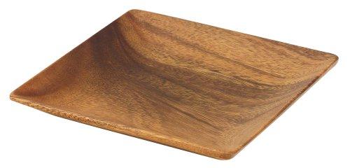 Pacific Merchants Acaciaware 7-Inch Acacia Wood Square Plate