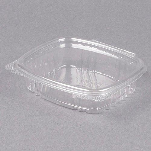 Genpak Clear Hinged Deli Container Plastic 8 oz 5-38 x 4-12 x 1-12 100Bag - 200 containers per case 100 per bag