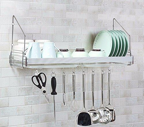 kitchen shelf Kitchen racks lzzfw wall mount bracket Siu Lek Yuen Water Bowl Rack Stainless Steel Hanging bowl tray admit Rack B