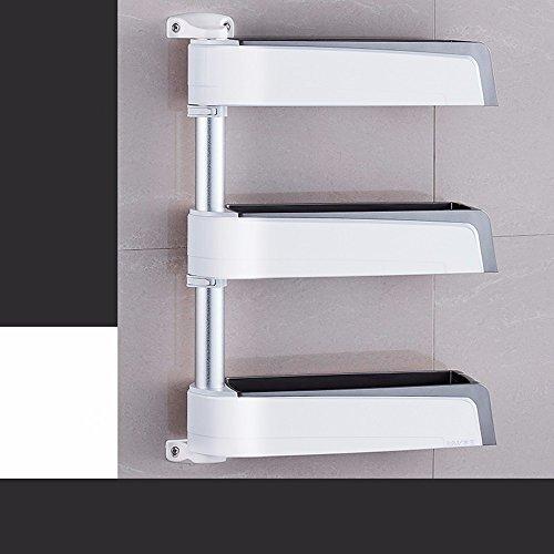 lzzfw Kitchen racks Wall angle bracket admit rack shelf rack mount spices and seasoning