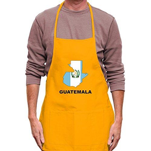 Teeburon Guatemala Country Map Color Apron