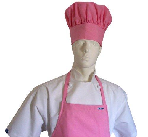 Chefskin Adult Set Apron  Hat Pink Ultra Lightweight Cool Comfortable