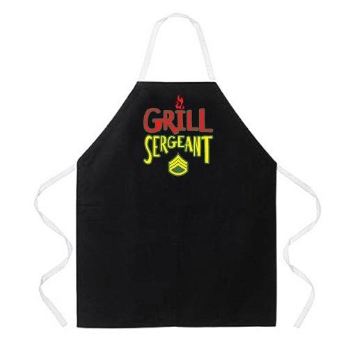 Attitude Aprons Fully Adjustable Grill Sergeant Apron Black