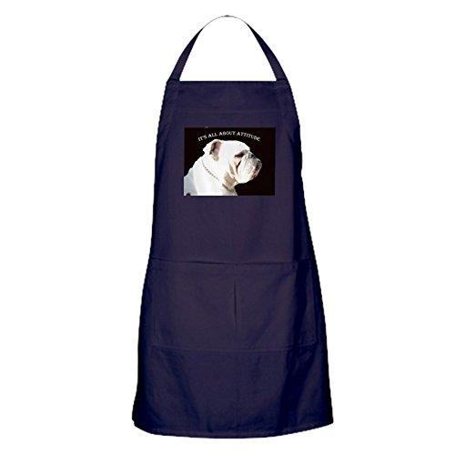 CafePress - Bulldog Apron Dark - 100 Cotton Kitchen Apron with Pockets Perfect Grilling Apron or Baking Apron