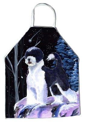 Carolines Treasures SS8399APRON Starry Night Portuguese Water Dog Apron Large Multicolor