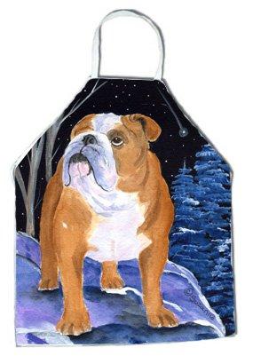 Carolines Treasures SS8405APRON Starry Night English Bulldog Apron Large Multicolor