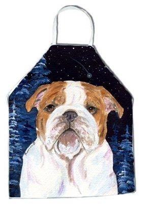 Carolines Treasures SS8447APRON Starry Night English Bulldog Apron Large Multicolor