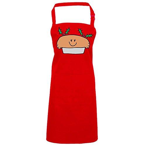 Batch1 Mrs Xmas Mince Pie Cute Festive Fun Novelty Christmas Chefs Apron One size Red