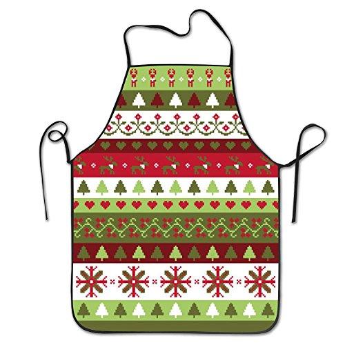 Cartoon Christmas Chef Aprons Home Bib Apron For Women Men Girl Kids Gifts Kitchen Decorations