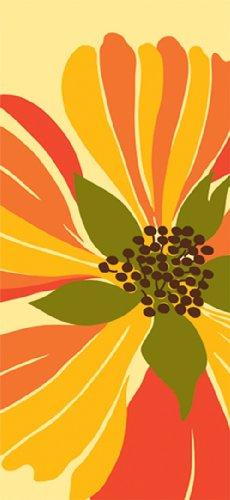 Paperproducts Design 35000 Soledad Abstract Flower Design 100-Percent Cotton KitchenBar Towel