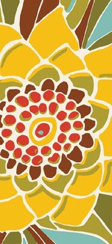 Paperproducts Design 35001 Avila Abstract Flower 100-Percent Cotton KitchenBar Towel