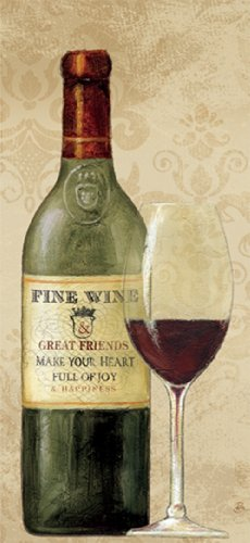 Paperproducts Design 35008 Fine Wine Red 100-Percent Cotton KitchenBar Towel