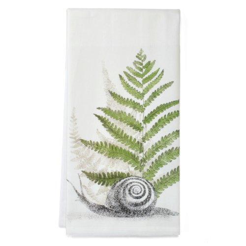 Montgomery Street Snail and Fern Cotton Flour Sack Dish Towel
