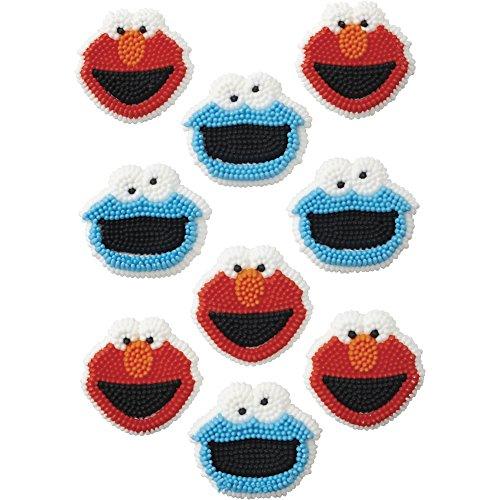 Wilton 710-3474 Sesame Street Edible Cupcake Toppers Multicolor