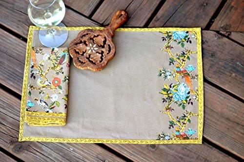 Bird Symphony Handmade Placemat Set of 6