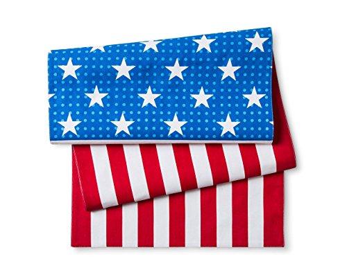 POPTIMISM Patriotic Centerpiece American Flag Fabric Table Runner 14 x 48 355 cm x 1219 cm