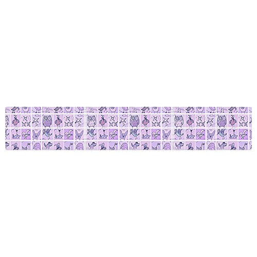 KESS InHouse Marianna Tankelevich Cute Birds Purple Pink Lavender Table Runner 16 x 90