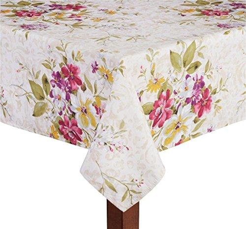 Elrene Stella Floral Print Microfiber Tablecloth 52 X 70 Oblong