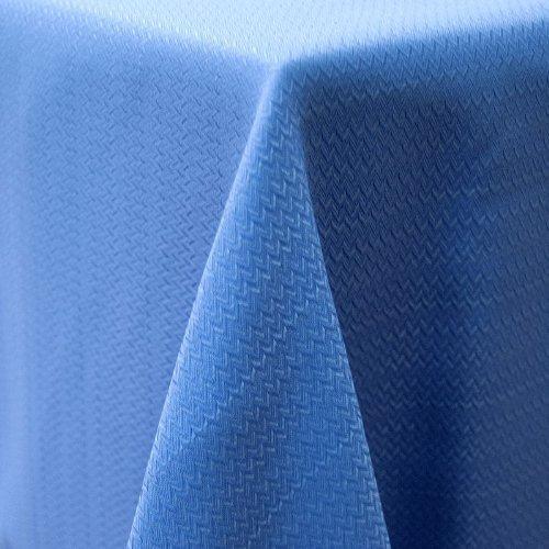 Fiesta Microfiber Tablecloth 60 by 102-Inch Zig Zag Lapis
