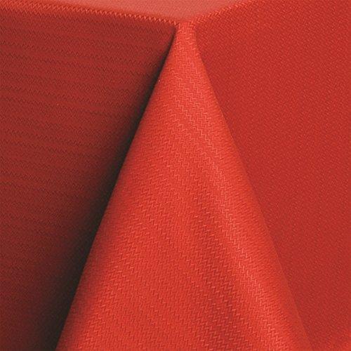 Fiesta Microfiber Tablecloth 60 by 102-Inch Zig Zag Scarlet