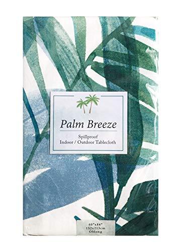 Benson Mills Palm Breeze IndoorOutdoor Tablecloth 60 x 84