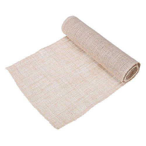 275x30cm Vintage Natural Burlap Jute Linen Table Runner Lace Cloth
