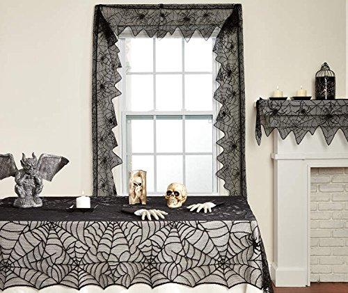 Halloween Spiderweb Lace Cloths 3-piece set