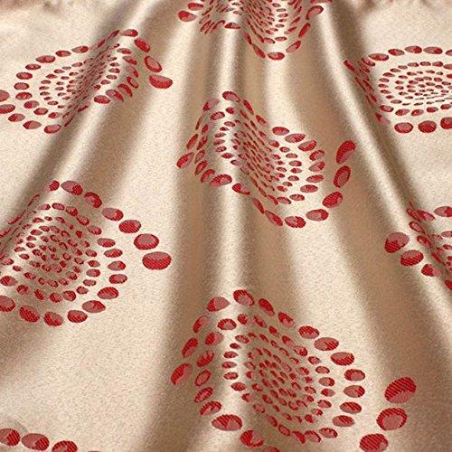 72 x 120 Inch Rectangular Tablecloth Kaleidoscope Damask Blush