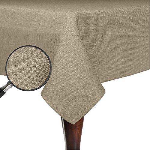 Ultimate Textile Faux Burlap - Havana 72 x 120-Inch Rectangular Tablecloth - Basket Weave Natural