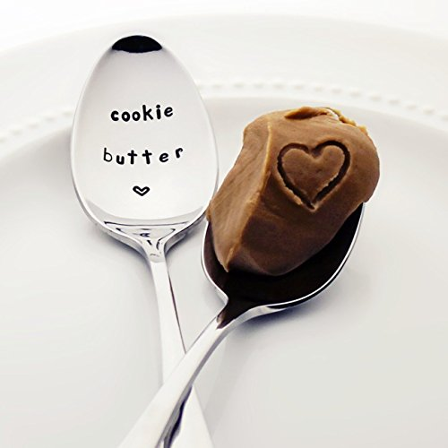Cookie Butter - Stamped Spoon Stamped Silverware  Unique Kitchen Accessory  Foodie Gifts for Her