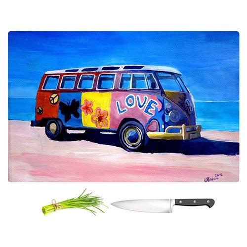 DiaNoche Designs CB-MarkusBleichnerTheLoveVWBus1 Markus Bleichner the Love VW Bus Unique Kitchen Slicing Dicing Bar Artistic Decorative Cutting Boards from Small 11 x 8