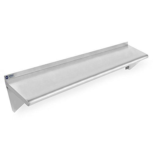 Gridmann NSF Stainless Steel Kitchen Wall Mount Shelf Commercial Restaurant Bar w Backsplash - 12 x 48
