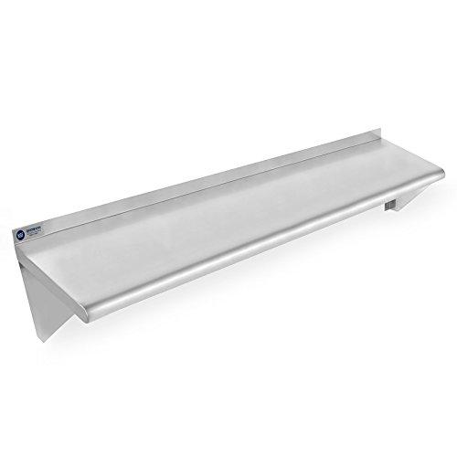 Gridmann NSF Stainless Steel Kitchen Wall Mount Shelf Commercial Restaurant Bar w Backsplash - 14 x 48