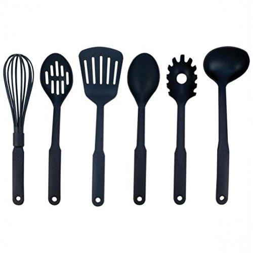 Maxam KT6 6 Piece Nylon Kitchen Tool Set