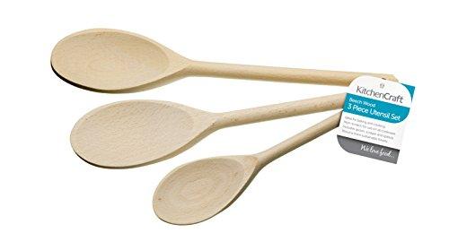 Wooden Spoon Set - Pack of 3 Spoons