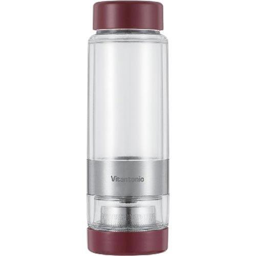 Vitantonio Twistea Tea Infuser Cup - Travel Mug Teapot Red VTW-10