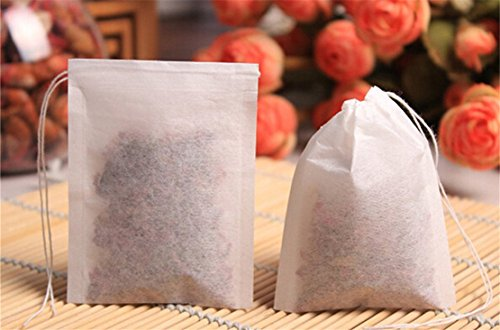 Y&Y Star 100pcs Disposable Tea Filter Bags Disposable String Drawstring for Loose Tea 216x28inch 100pcs 216x28inch