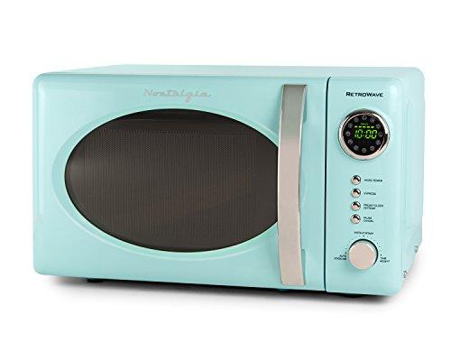 Nostalgia RMO7AQ Retro 07 Cubic Foot Microwave Oven – Aqua Blue