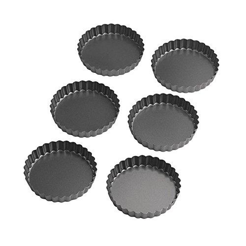 Wilton Perfect Results 475 Inch Round TartQuiche Pan Set of 6