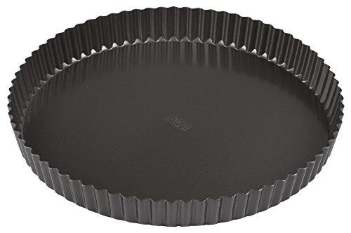 Winco FQP-12 12 Non-stick Carbon Steel Quiche Pan